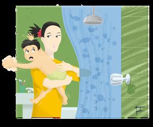 The Shower Nightmare by leonart416