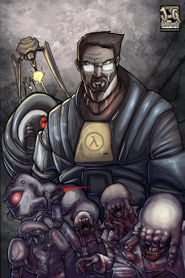 Rampaged Reality Gordon Freeman And A Gang Of His Worst