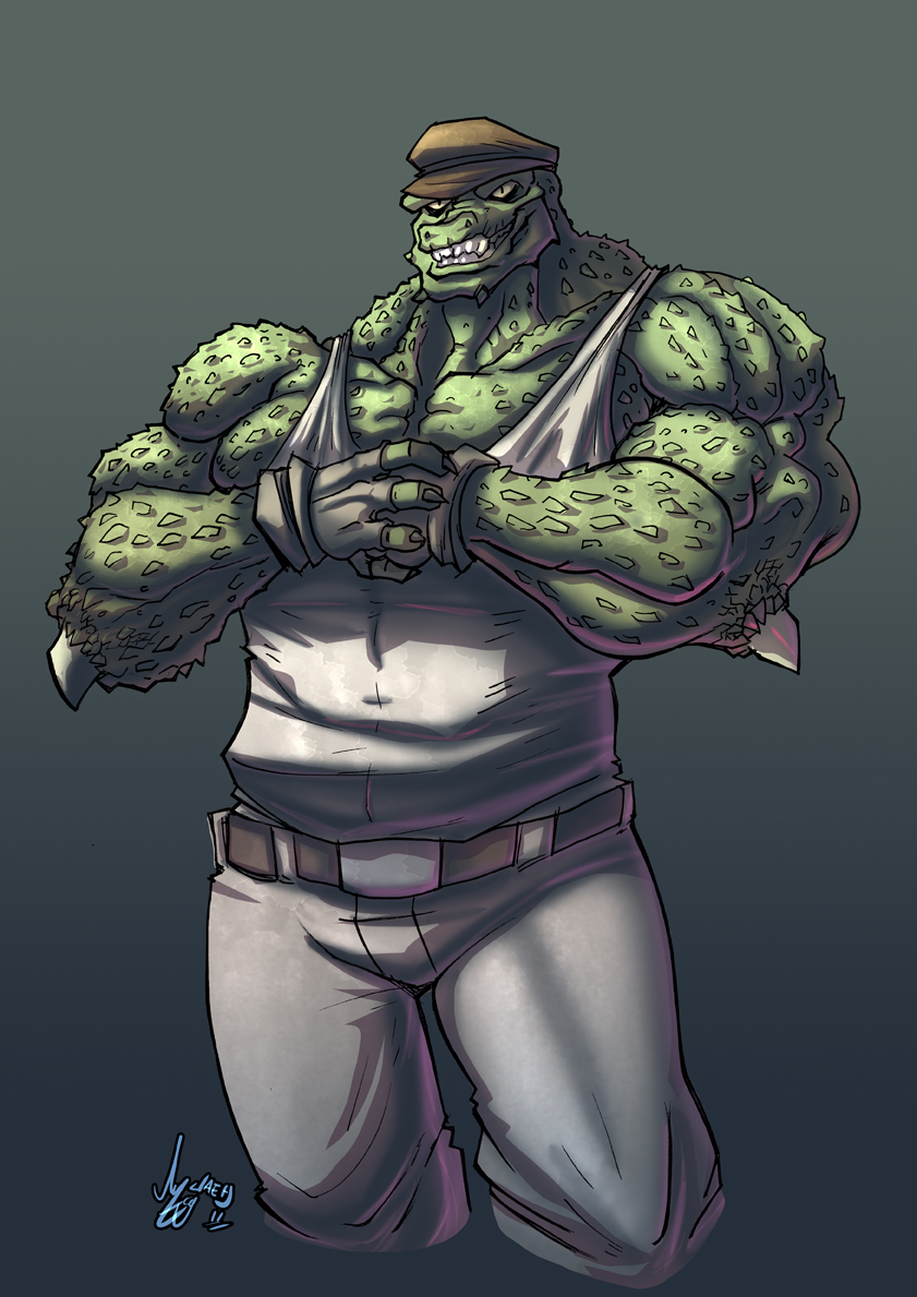 Killer Croc by Jaehthebird
