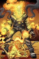 The Fire Skull Rider by Jaehthebird