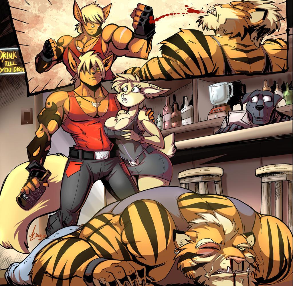Art cat erotic fight