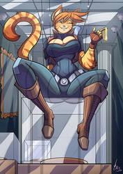 Loree loves her job! by Jaehthebird