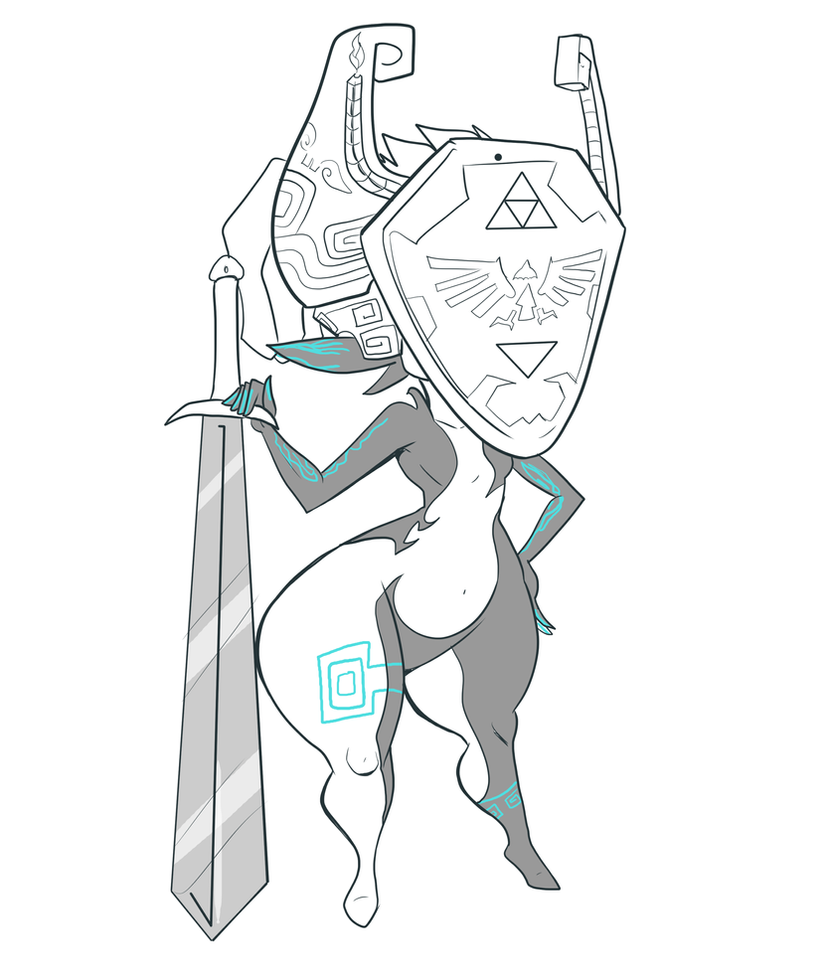 Midna ready for battle! by Jaehthebird