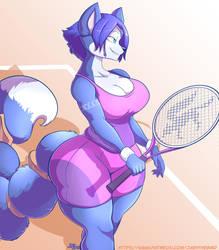 Krystal the Tennis fox Player