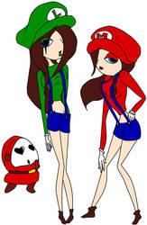 Super Mario Sisters by SorrowPrincessChoco