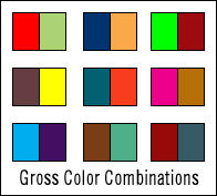 Gross Color Combinations by glue