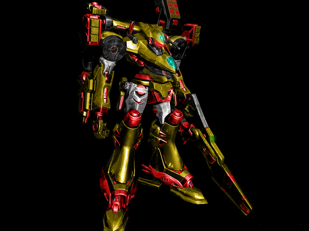 Gold Armored Core by Flynneybob
