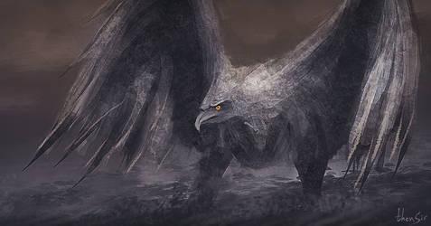 Stone Bird - speedpainting