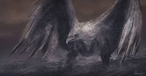 Stone Bird - speedpainting