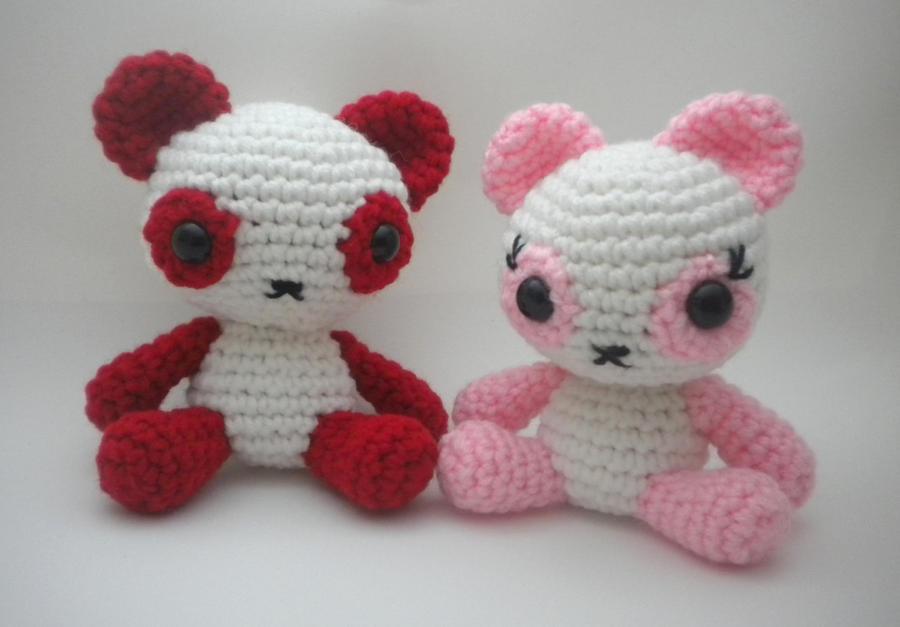 Amigurumi Forum : Panda bears amigurumi by stitchedlovecrochet on deviantart