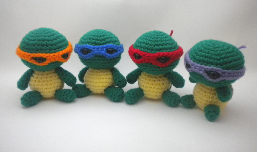 Olaf Amigurumi Crochet Pattern : Ninja turtle set by StitchedLoveCrochet on DeviantArt