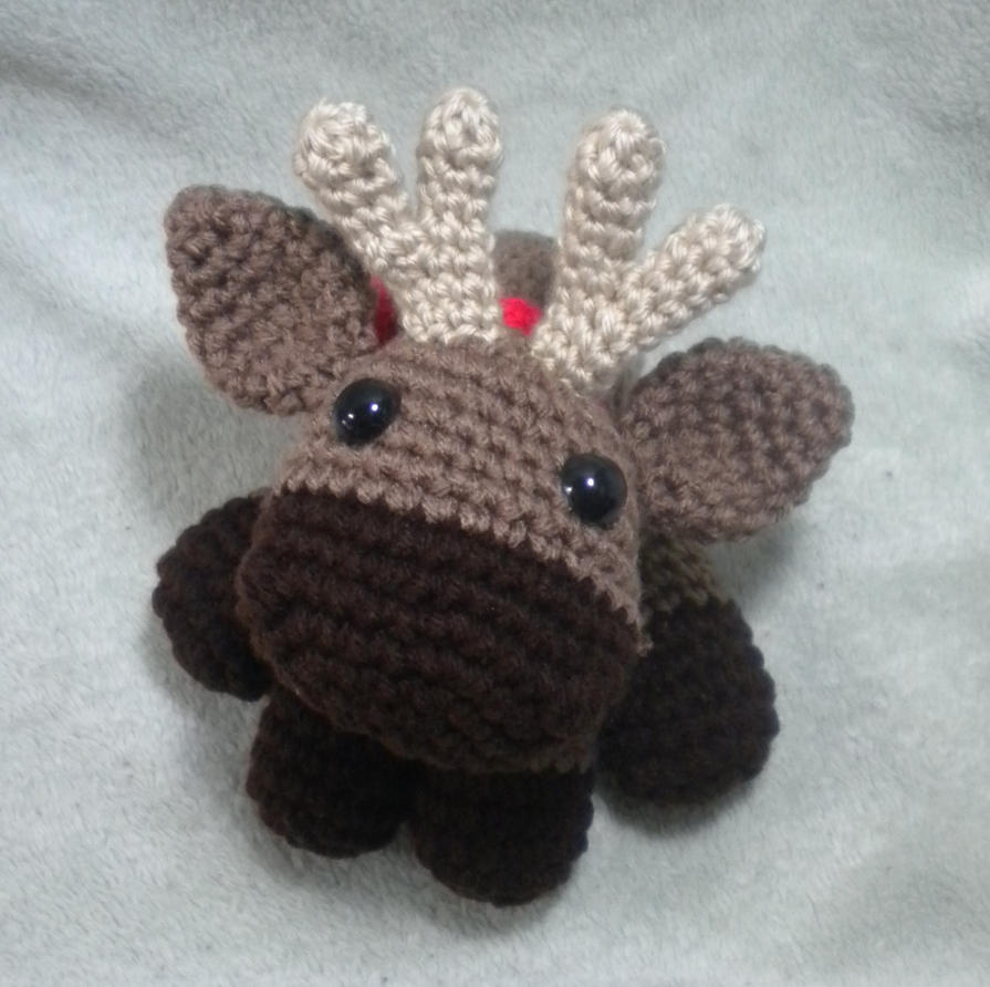 Murray the Moose - crochet amigurumi by StitchedLoveCrochet