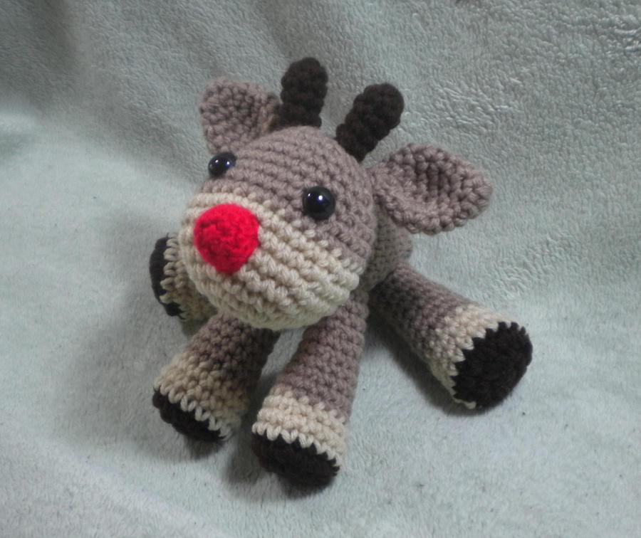 Amigurumi Reindeer Pattern : Rudolph the Reindeer - crochet amigurumi doll by ...