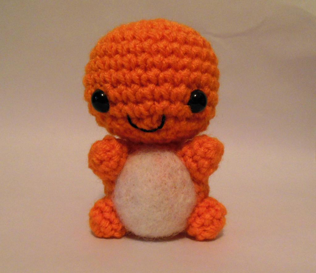 Charmander fire lizard crochet pokemon amigurumi by ...