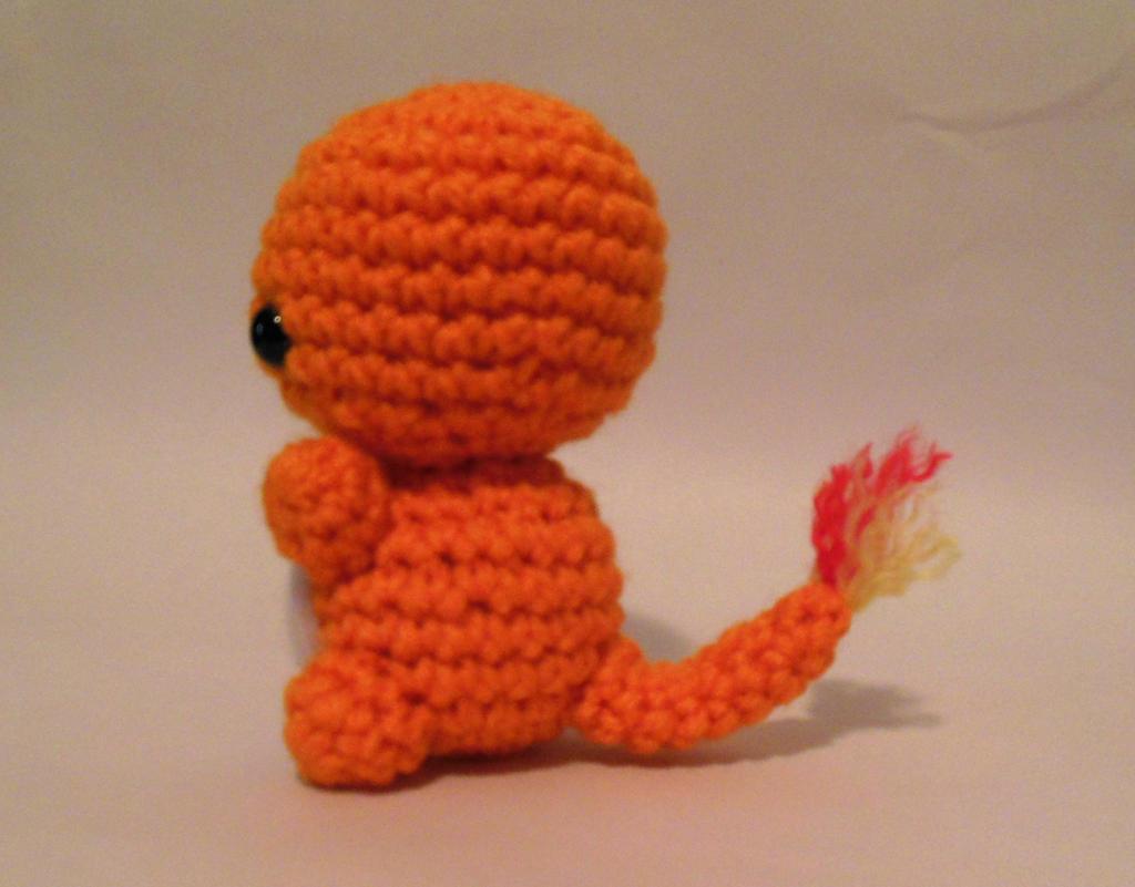 Amigurumi Pokemon Charmander : Charmander fire lizard crochet pokemon amigurumi by ...