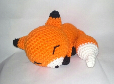 Crochet plush fox amigurumi | Amiguroom Toys | 334x450