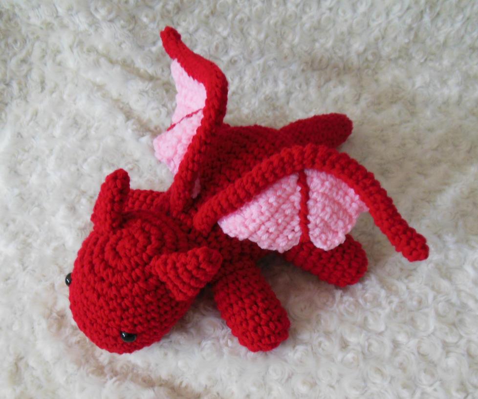 Crochet Red Dragon Amigurumi by StitchedLoveCrochet on ...