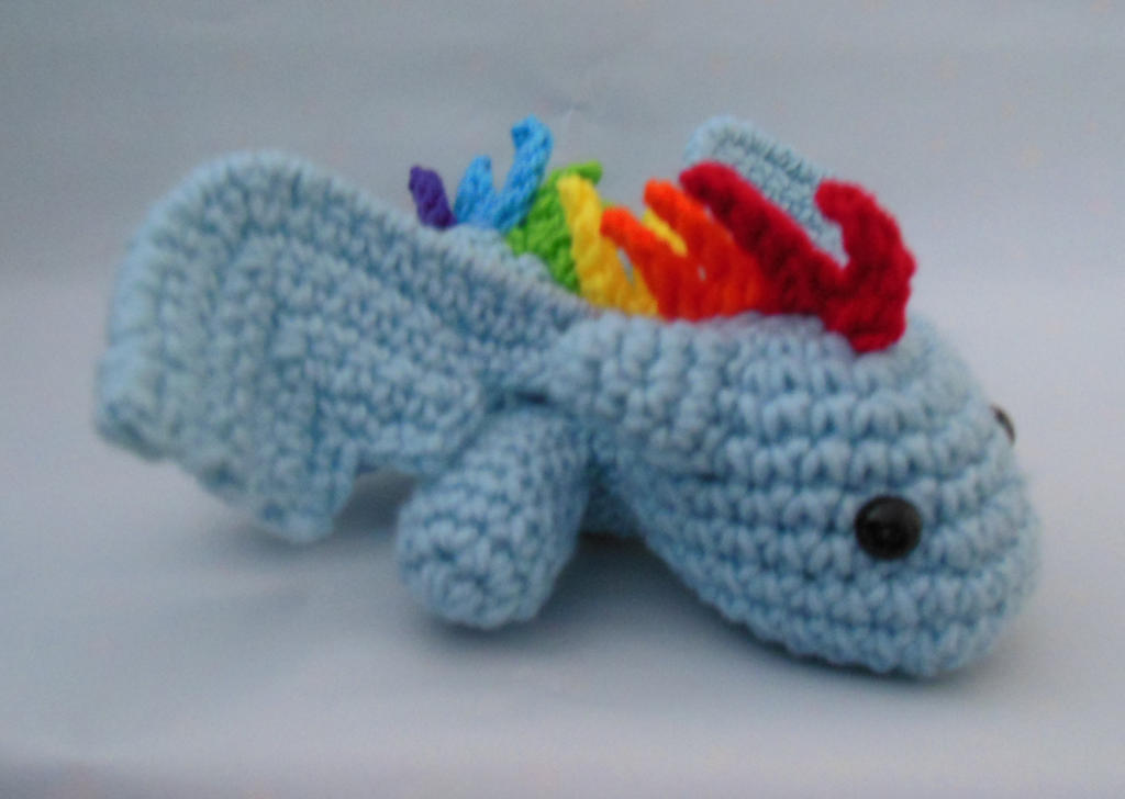 Rainbow Dash Dragon Crochet Amigurumi by ...