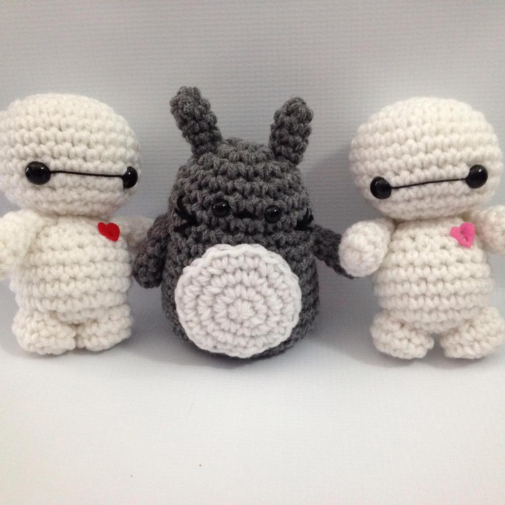 Amigurumi Totoro : Baby Baymax and Totoro amigurumi by StitchedLoveCrochet on ...