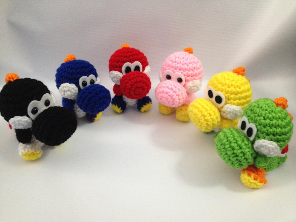 Yoshi Crochet Amigurumi by StitchedLoveCrochet on DeviantArt