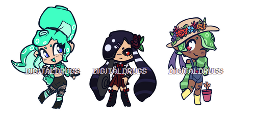 [CLOSED] SPLATOON REDESIGN CHIBIS