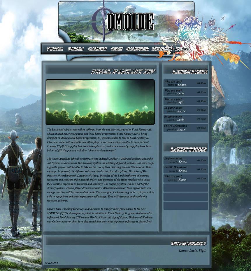 FFXIV Website Template by Knoxx13 on DeviantArt