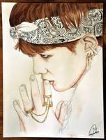 BTS: Suga (Art trade) by TheCorinna