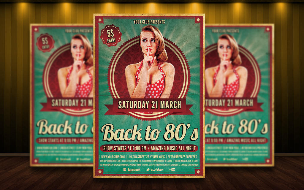 Free poster templates downloads retro