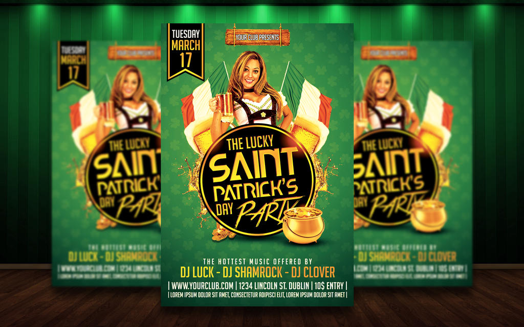 Saint Patricks Day PSD Flyer by MatteoGianfreda