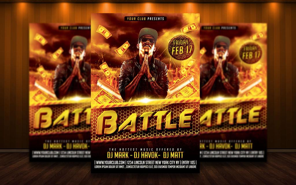 Rap hip hop flyer psd by matteogianfreda94 on deviantart for Hip hop psd