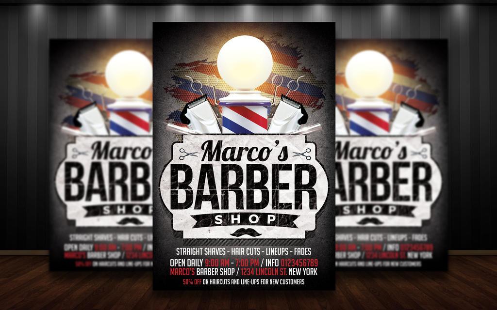 barbershop flyer psd by matteogianfreda94 on deviantart. Black Bedroom Furniture Sets. Home Design Ideas