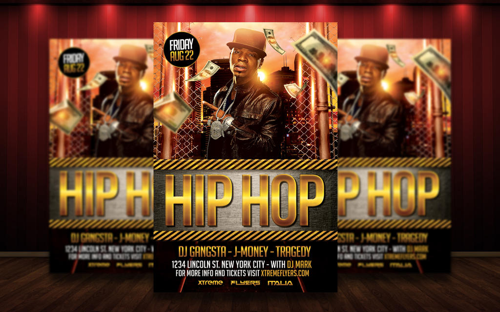 Hip Hop Flyer Template By Matteogianfreda94 On Deviantart