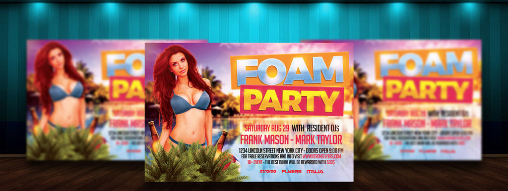 Pool Foam Party Flyer Template By Matteogianfreda94 On Deviantart
