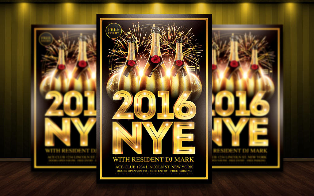 New Year Flyer Template Psd By Matteogianfreda On Deviantart