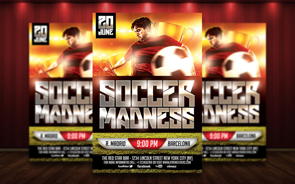 FREE Soccer Flyer Template By MatteoGianfreda94 ...