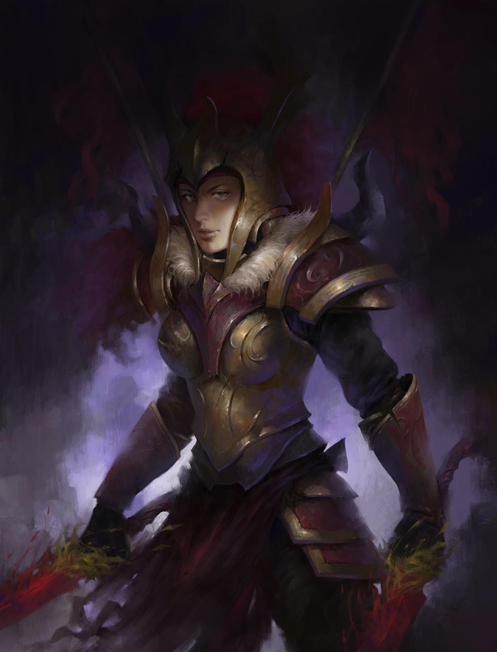 Legion Commander Fan Art by nntan92