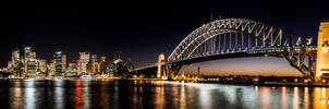 Sydney Harbout Bridge and Opera House at Night