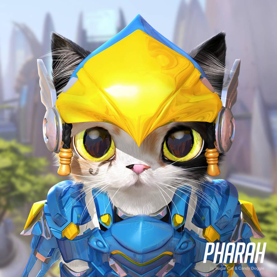 Pharah cat by sugarcat-candydoggie