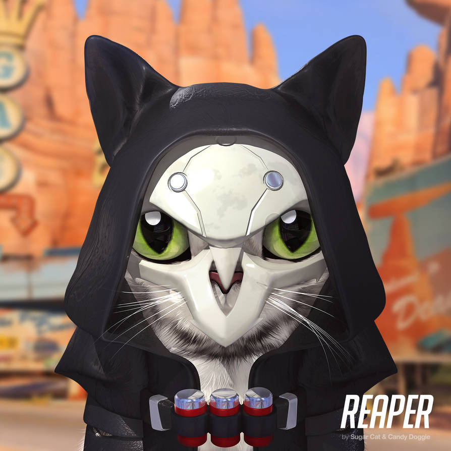 Reaper cat by sugarcat-candydoggie
