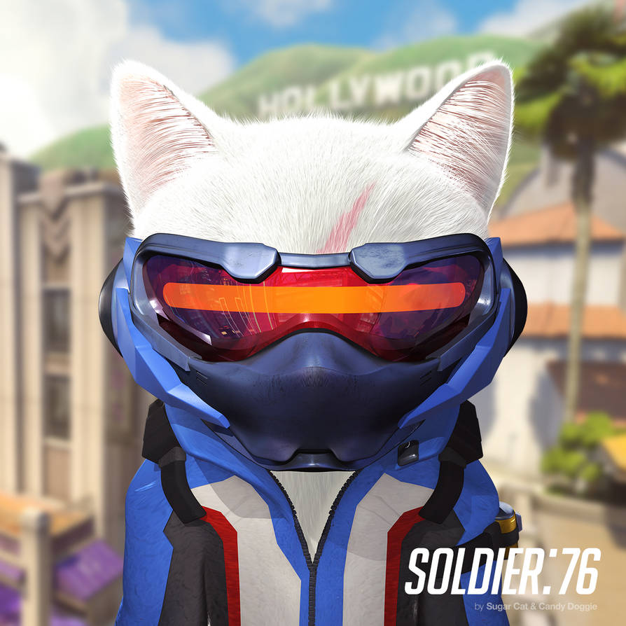 Soldier:76 cat by sugarcat-candydoggie