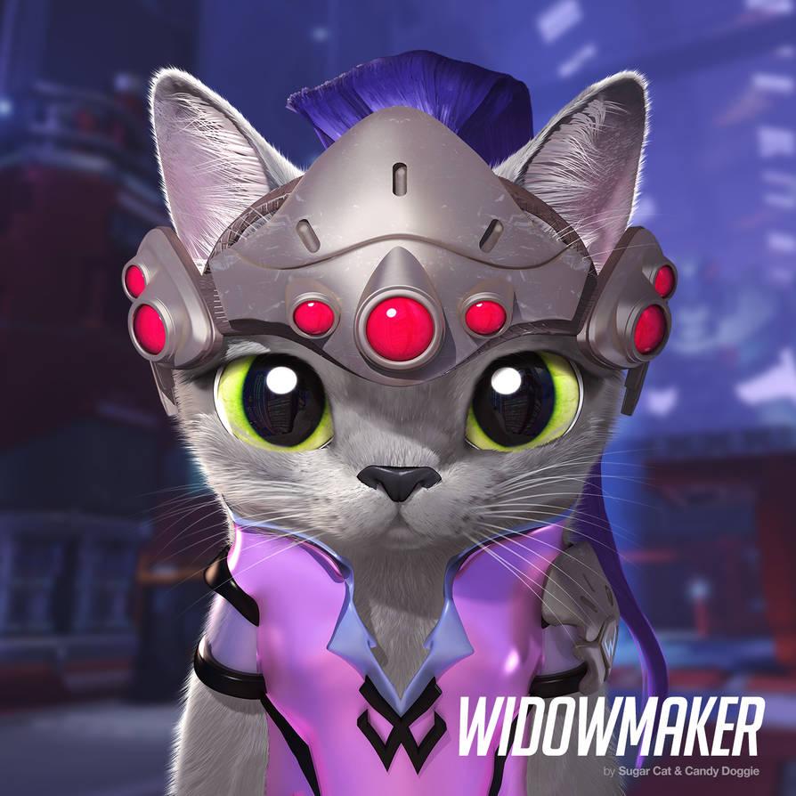 Widowmaker cat by sugarcat-candydoggie