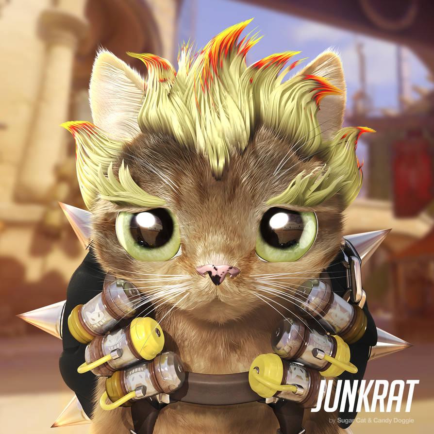 Junkrat cat by sugarcat-candydoggie