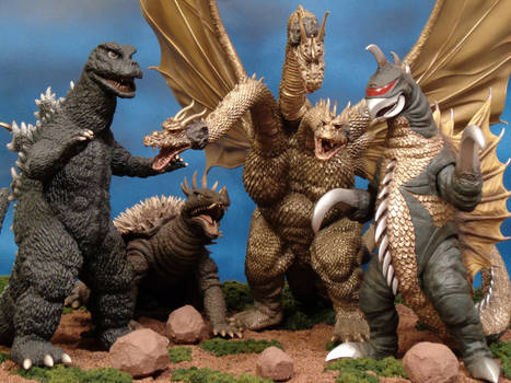 Godzilla vs. Gigan by X-Plus
