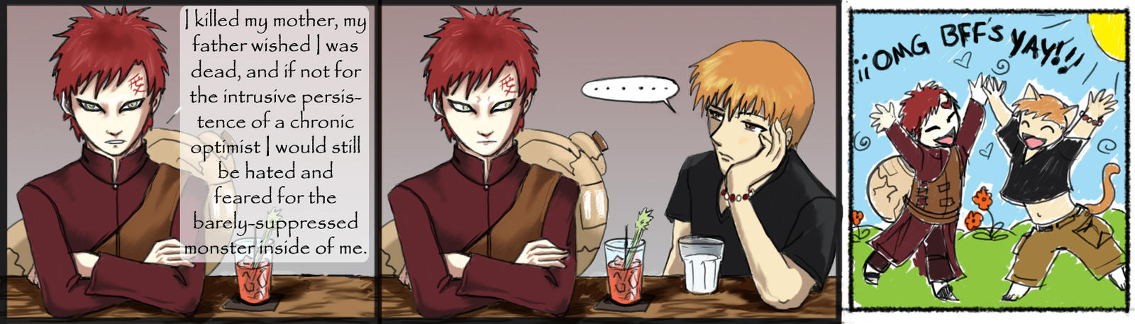Two guys walk into a bar... by janey-jane