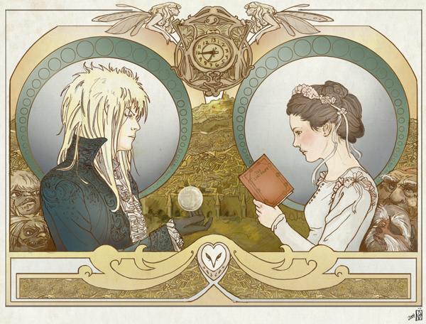 Nouveau Labyrinth poster by janey-jane