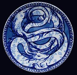 Blue dragon plate: Kohaku