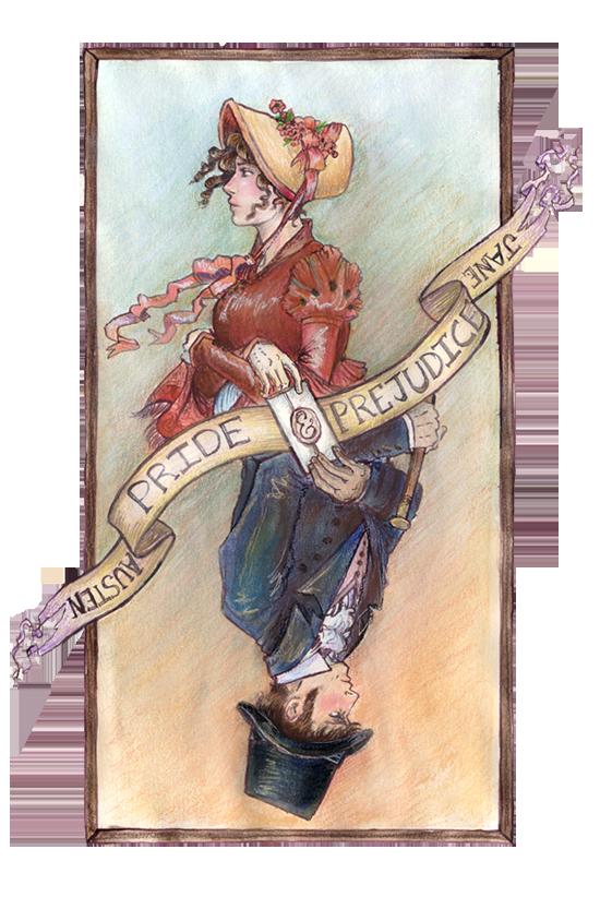 Pride + Prejudice cover sketch by janey-jane