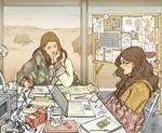 Jane + Darcy pre-Thor by janey-jane