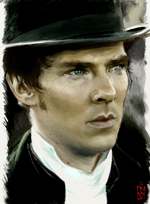 Cheeeekbones Cumberbatch by janey-jane