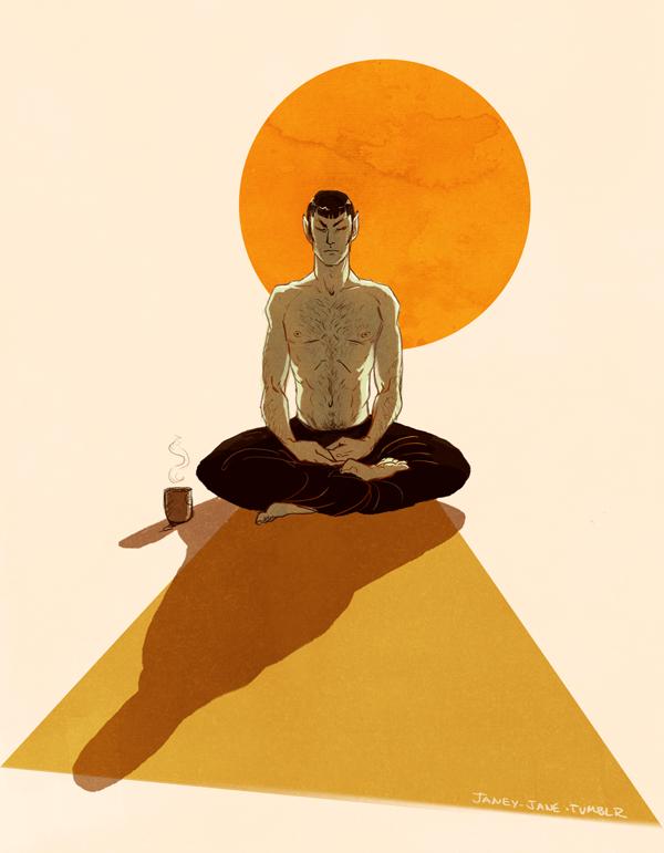 morning meditation by janey-jane